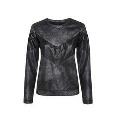 Leather 'V' Sweater LAVELIQ