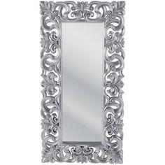 Lustro Italian Baroque Silver 180x90, kare design