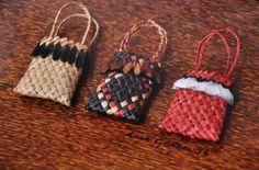 Anna Gedson Kura Gallery Maori Art Design New Zealand Aotearoa Weaving Framed Three Kete Harakeke Pheasant Feathers Flax Weaving, Basket Weaving, French Collection, Nz Art, Maori Art, Arts And Crafts, Diy Crafts, Pheasant Feathers, Miniture Things