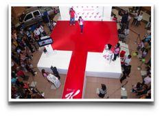 Activacion de marca con participación del target. Desfile de moda en centros comerciales para Kellogggs