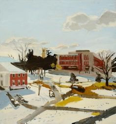 Fairfield Porter, Snow at Amherst
