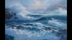The majestic Pacific, as seen through the brushwork of artist, Byron Pickering. Music, courtesy of Tim Janis, www.timjanis.com