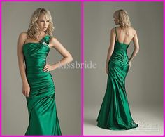 Wholesale Prom Dress - Buy Elegant One Shoulder Empire Emerald Green Prom Dress 2011 New Pageant/Party/Formal Dresses, $121.59 | DHgate