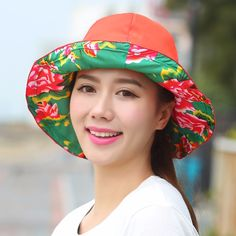 822ea6a4ec1b6 New arrived summer hats for women new fashion outdoors visors cap sun  collapsible anti-uv