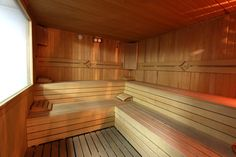 Saunada sıcak saatler geçirebilirsiniz.