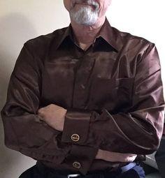 brown nylon shirt