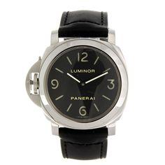 A stainless steel manual wind gentleman's Panerai Luminor wrist watch.    Estimate GBP: £2,500 - £3,500