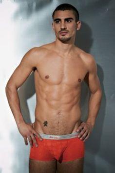 Mens Andres Velasco Twister Trunk - XL, Green Men's Underwear from