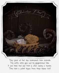 http://lechatdesucre.com/blog  marshmallows gingerbread chocolate fondue