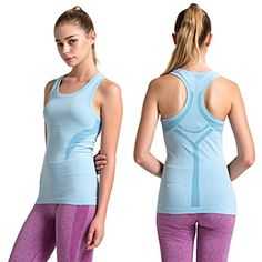SEKERMAET Women's Fitness Workout Sport Tank Tops, Activewear Gym Yoga Seamless Camisole Dry Fit ** Check out this great product. (This is an affiliate link) #Shirts