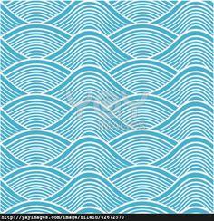 japanese seamless ocean wave pattern