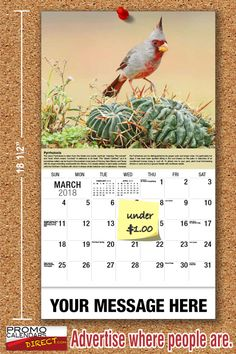 2021 Garden Song Birds Wall Calendars low as Advertise your business, organization or event logo and ad message the entire year! Promotional Calendars, Out Of Office Message, Wall Calendars, Garden Birds, Phone Messages, Free Advertising, Business Organization, Holiday Cards, Logo