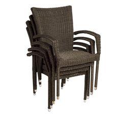 Bari Wicker Patio Armchairs - (Set of 4)