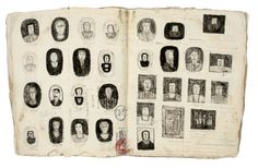 Sketch portraits of imaginary friends and real ones, James Castle