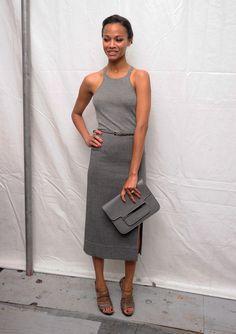Zoe Saldana Photo - Seen Around Lincoln Center - Day 7 - Spring 2012 Mercedes-Benz Fashion Week