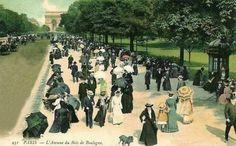 Scènes des rues à Paris en 1900