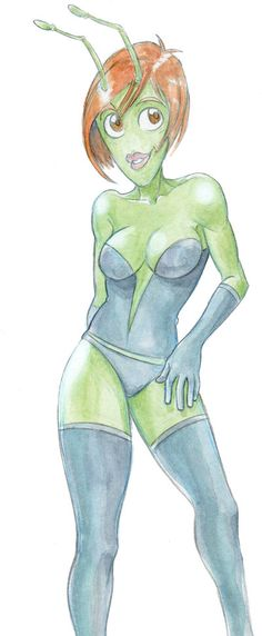 Random sexy alien sketch - Daily warm up by ElioFinocchiaro.deviantart.com on @deviantART