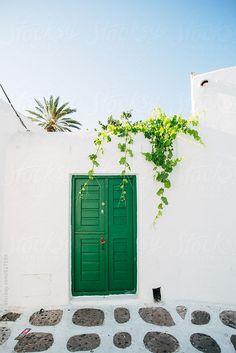 Green door in Mykonos by michela ravasio - Stocksy United Greece Wallpaper, Adventure Is Out There, Greece Travel, Travel Photography, Greece Photography, Mykonos Greece, Santorini, Mykonos Island, Places To Go