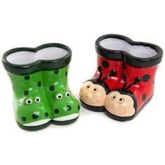Frog and Ladybird Planters | Poundland