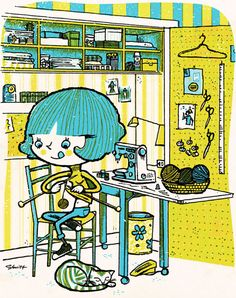Sewing Machine, Knitting and a Craft Corner, my little slice of happiness!  S.Britt