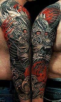Ideias de tattoos de dragão
