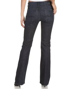 c0c18cf04a0eb 7 For All Mankind Women's Highwaist Boot Cut Jean in Los Angeles Dark