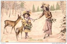 The Greeting of the  Deers on Christmas.
