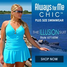 Always For Me Chic Solids - Plus Size Swimwear