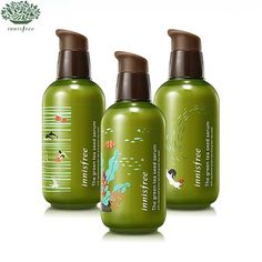 INNISFREE The Green Tea Seed Serum limited edition - Upgraded & Big SizeA moisturizing serum with organic Jeju green tea and green tea seeds that hydrate your skin from deep within! More moisture and freshness with gree Korean Beauty Store, B Words, Asian Makeup, Best Tea, Innisfree, Beauty Box, Korean Skincare, Serum, Moisturizer