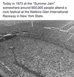 Summer Jam at Watkins Glen NY in 1973 School Bus Driving, Watkins Glen Ny, Watkins Glen International, Wtf Fact, Summer Jam, Allman Brothers, Rock Festivals, I Need To Know, Teenage Years