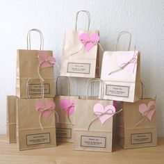 Wedding favour bags SMALL gift bags brown paper gift wrap personalized favours - SMALL x x set of 5 Bridesmaid Gift Bags, Wedding Favor Bags, Wedding Gifts, Diy Wedding, Wedding Souvenir, Nautical Wedding, Paper Gift Bags, Paper Gifts, Diy Paper