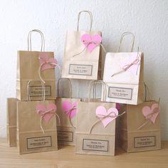 Boda favor bolsas regalo pequeñas bolsas marrones de papel