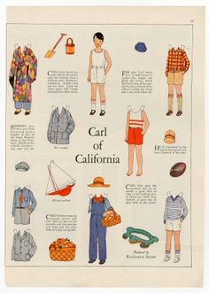 77.238: Carl of California | paper doll | Paper Dolls | Dolls | Online Collections | The Strong