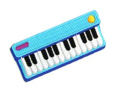 Keyboard Jam Decorative Embroidered Sew or Iron-on Backing Patch