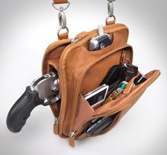 GTM-99 Concealed Carry Raven Shoulder Pouch Saddle Tan