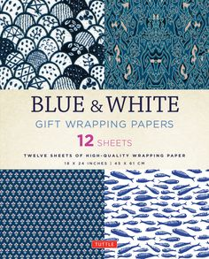 """""""Are you the type of person that takes extra time and effort to make sure a gift you are wrapping looks beautiful? This little gem of a book might just be what you are looking for! Tuttle Publishing offers a publication that features 12 sheets of beautiful blue and white, 18 x 24-inch gift papers printed with traditional Asian textile designs. Asian style papers can add a beautiful and distinctive look to your wrapping projects. This gift wrap will also add elegance to your papercraft cards"""