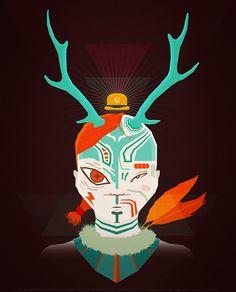 Illustration / Forest King – Gabriel Suchowolski is microbians