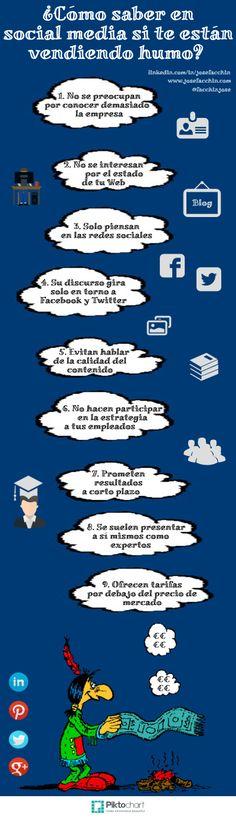En Social Media ¿Cómo saber si te están vendiendo humo? #Infografía