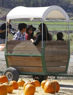 Pin for Later: Kim Kardashian and Her Family Take Over a Pumpkin Patch