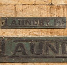 Laundry Tin Sign | Retro Metal Signs |  Laundry Room Wall Art