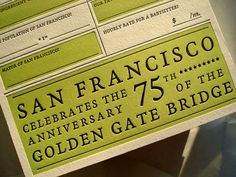 San Francisco Card Letterpress #2012 Year You Were Born