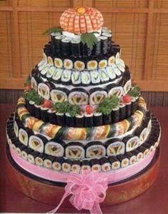 Sushi cake level over 9000!!