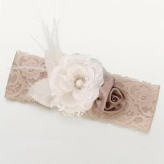 Vintage Floral Wedding Garter-for the serious one. Separate garter for the fun one.