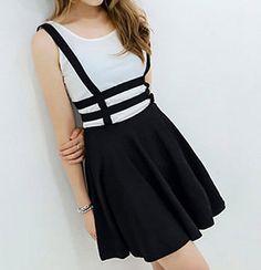 suspender skirt| $7.31  nu goth pastel goth grunge punk gyaru fachin skirt suspender skirt bottoms under10 under20 under30 sammydress