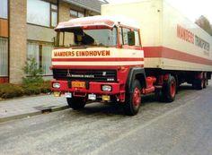 Magirus-Deutz 4x2 met gesloten oplegger van Manders in Eindhoven