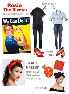 Rosie the Riveter Halloween costume - We can do it!