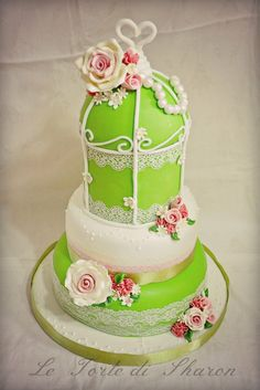 Birdcage Cake - by LeTortediSharon @ CakesDecor.com - cake decorating website