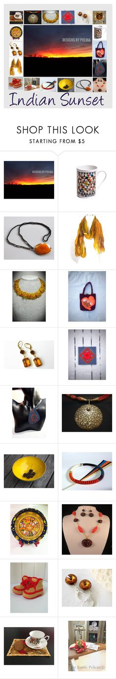 """Indian Sunset: Natural & Ethnic Gift Ideas"" by paulinemcewen ❤ liked on Polyvore featuring Nature Home Decor, rustic, vintage and country"