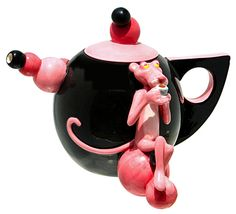 Pink Panther Modern Art Teapot NIB Free Shipping | eBay. Gotta have it.