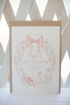 Pop Roc Parties Blog   Flamingo Party   First Birthday   Pippas Flamingo Invite